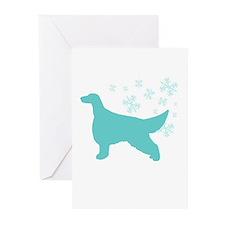 Irish Setter Snowflake Greeting Cards (Pk of 10)