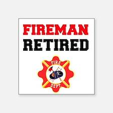 Fireman Retired Sticker