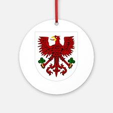 Gorzow wielkopolski coat of arms cl Round Ornament