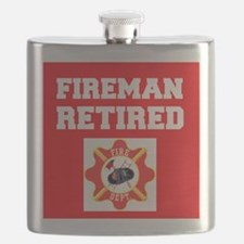 Fireman Retired Flask