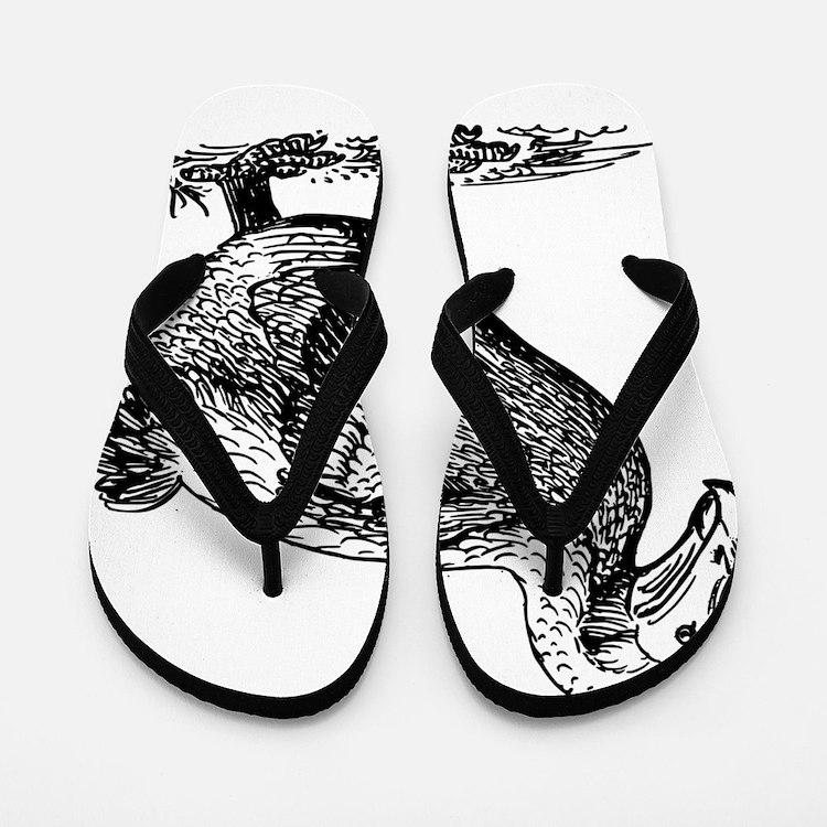 Dodo bird clip art Flip Flops