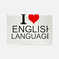 I Love English Language Magnets