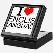 I Love English Language Keepsake Box