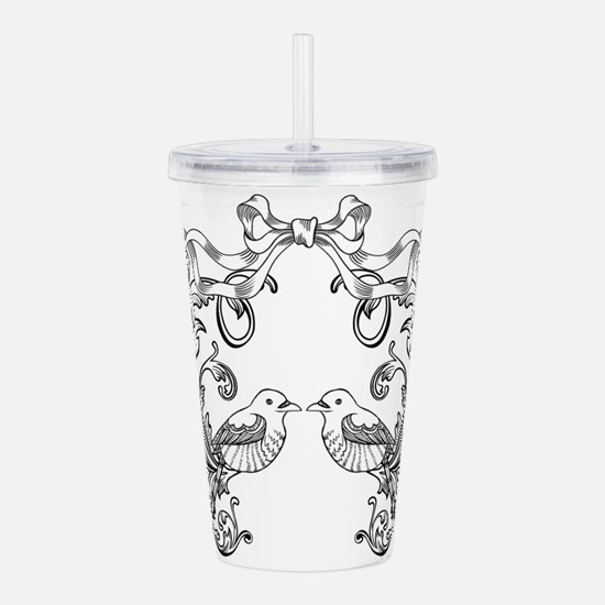 European pattern line Acrylic Double-wall Tumbler