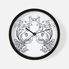 European pattern line art Wall Clock