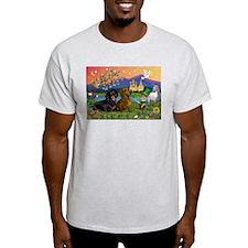 Irish Elf & Dachshund Pair Ash Grey T-Shirt