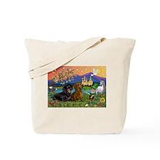 Irish Elf & Dachshund Pair Tote Bag