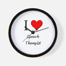 I Love My Speech Therapist Wall Clock
