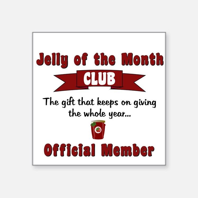 Baby Gift Of The Month Club : Jelly month club stickers sticker