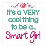 Girls rule Square Car Magnets
