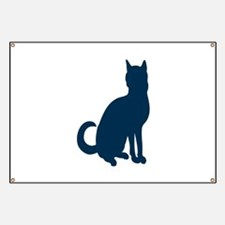 Silhouette of cat Banner