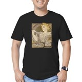 Art nouveau Fitted T-shirts (Dark)