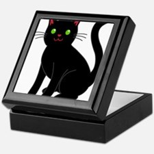 Black cat Keepsake Box