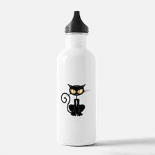 Amusing black cat Water Bottle