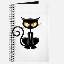 Amusing black cat Journal