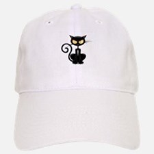 Amusing black cat Baseball Baseball Cap