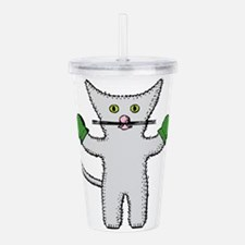 Kitten with mittens cl Acrylic Double-wall Tumbler