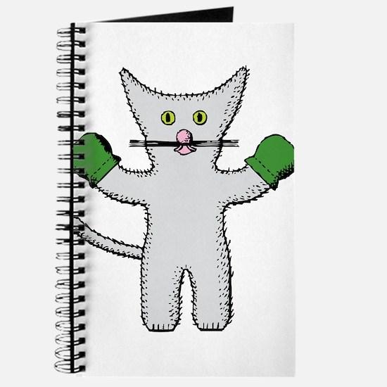 Kitten with mittens clip art Journal