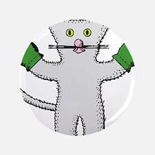 Kitten with mittens clip art Button