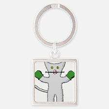 Kitten with mittens clip art Keychains