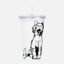 Cat meow clip art Acrylic Double-wall Tumbler