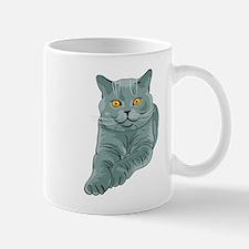 Fat sitting cat Mugs