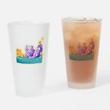 Persian cat drawing Drinking Glass