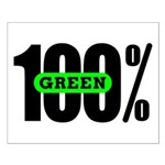 100% Green Poster - Small