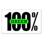 100% Green Rectangle Sticker