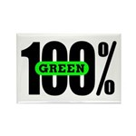 100% Green Rectangle Magnet (100 pack)