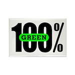100% Green Kitchen Magnet
