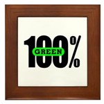 100% Green Framed Tile