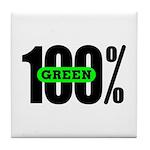 100% Green Coaster Tile
