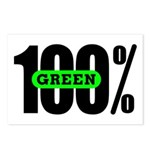 100% Green Postcards (Package of 8)