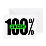 100% Green Greeting Cards (Pk of 20)
