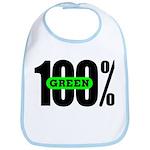 100% Green Bib