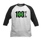 100% Green Kid's Baseball Jersey