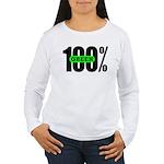100% Green Women's Long Sleeve T-Shirt