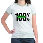 100% Green Jr. Ringer Tee-Shirt