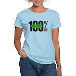 Women's 100% Green T-Shirt Light Colored