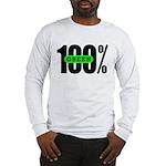 100% Green Long Sleeve T-Shirt