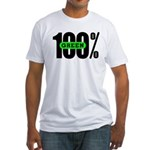 100% Green Fitted T-Shirt