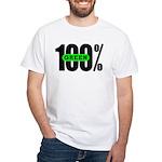 100% Green T-Shirt White