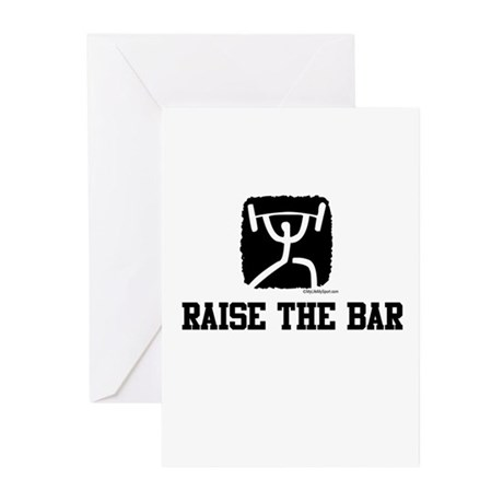 RAISE THE BAR Greeting Cards (Pk of 10)
