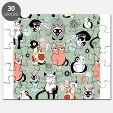 Funny cartoon cat design pattern Puzzle