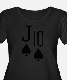 Jack Ten Poker Plus Size T-Shirt