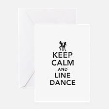 Keep calm and line dance Greeting Card
