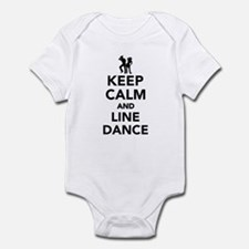 Keep calm and line dance Infant Bodysuit