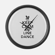Keep calm and line dance Large Wall Clock