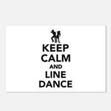 Keep calm and line dance Postcards (Package of 8)